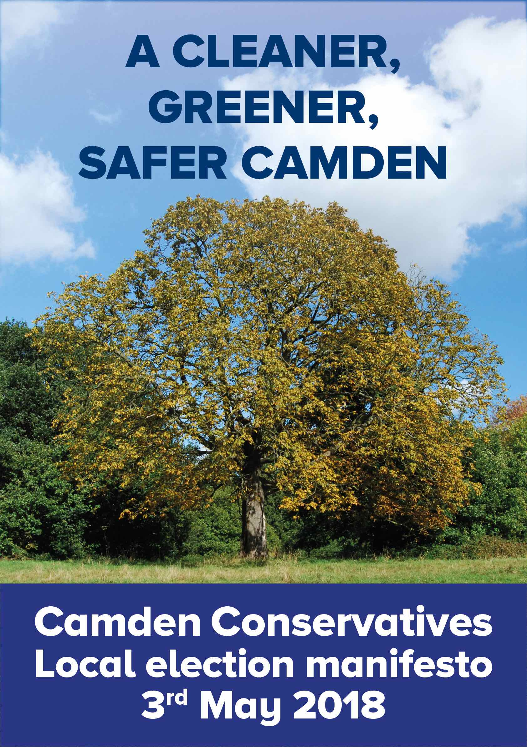 Camden Conservatives manifesto front cover